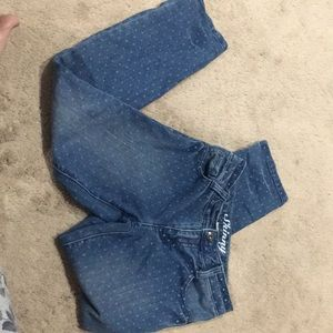 Girls polka dot jeans, size 8 crazy 8